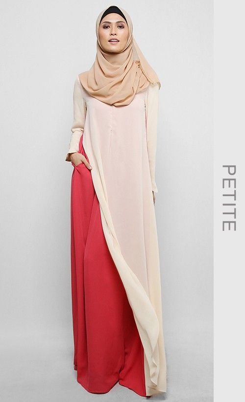 (Petite) Amanee Dress in Red Guava and Ivory