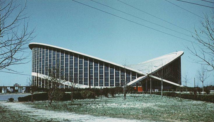 Arena w Raleigh North Carolina (Paraboleum) 1950; Raleigh Arena, North Carolina (Paraboleum) 1950