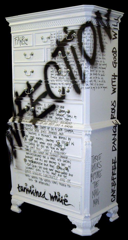 White Graffiti Chest by Jimmie Martin