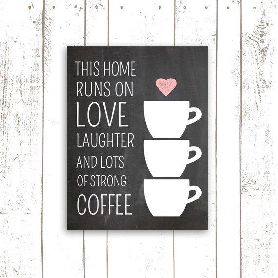 Coffee Art Print Kitchen Decor Printable by MooseberryPrintables, $5.00