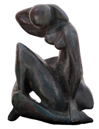 JULIEN Hommage à Henri Matisse Sculpture en bronze à la c