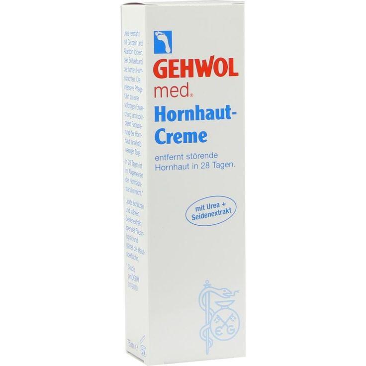 GEHWOL MED Hornhaut Creme:   Packungsinhalt: 75 ml Creme PZN: 06461848 Hersteller: Eduard Gerlach GmbH Preis: 4,62 EUR inkl. 19 % MwSt.…