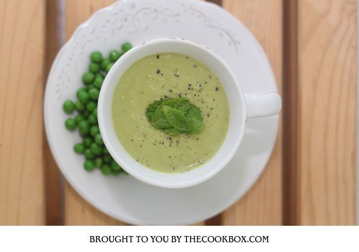 Creamy Pea and Mint Soup - The CookBox