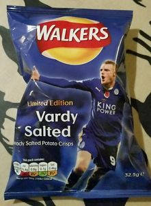 BN Limited Edition Vardy Salted Walkers crisps chips Leicester ...