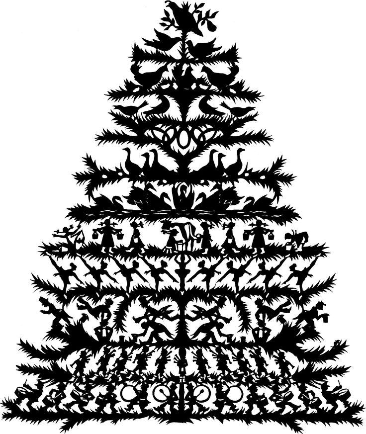 12 days of Christmas scherenschnitte papercutting... one day I will do this one!