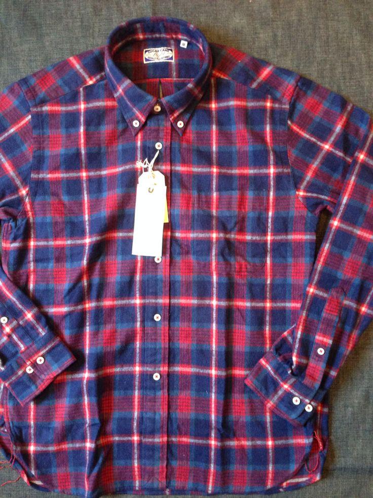 シュガーケーンライトからフランネルボタンダウンシャツ レッドが入荷しました。本体価格¥10,800