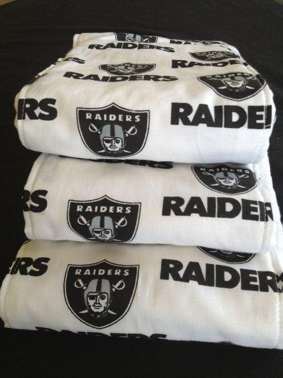 Premium Baby Burp Cloth Set- Raiders by JackandJillQuiltShop, $20.00