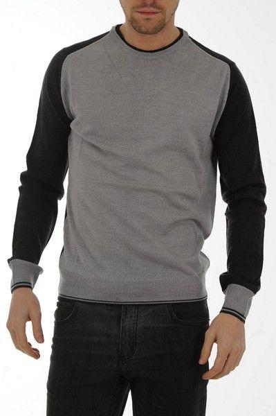 maglia lana girocollo Calvin Klein Collection - ABBIGLIAMENTO MAGLIERIA uomo nero - Outlet moda Luxyuu.it