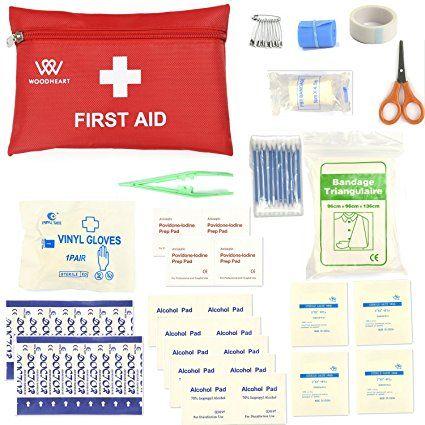 Kit di pronto soccorso , kit di pronto soccorso per la sopravvivenza del sacchetto medico portatile da WOODHEART, preparazione per auto, casa, pic-nic, campeggio, viaggi e altre attività all'aperto