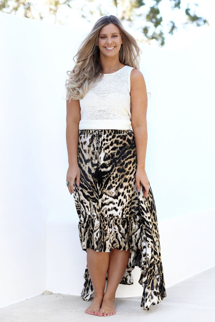 Eb & Ive - Caicos Skirt- Leopard