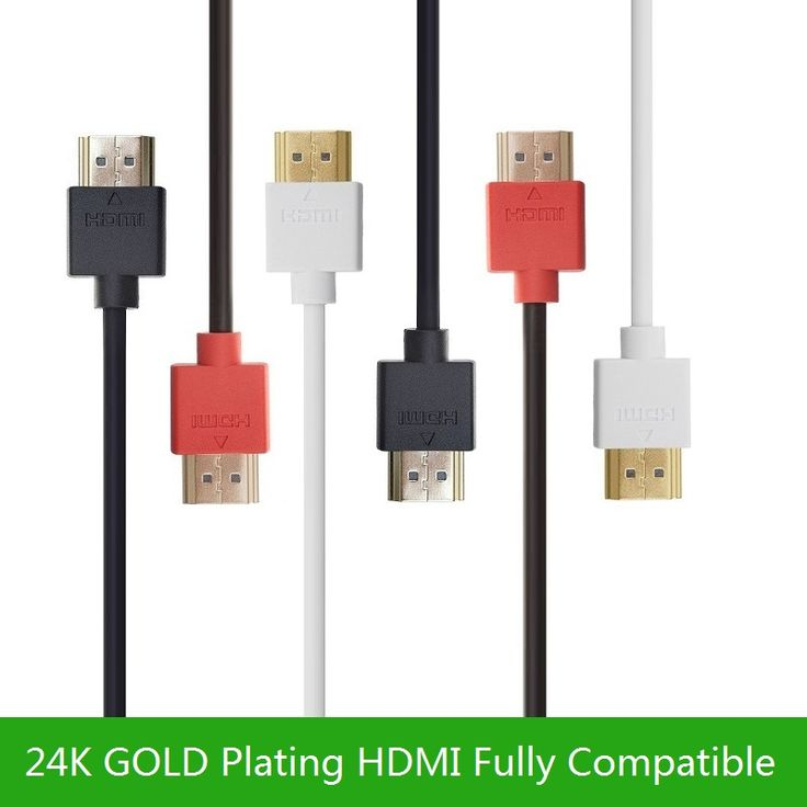 Haute Vitesse HDMI Câble-Ultra HD 4 k x 2 k Mince HDMI HDMI 1.4 Câble de Câble avec Ethernet HD TV-Audio/Vidéo or-Plaqué