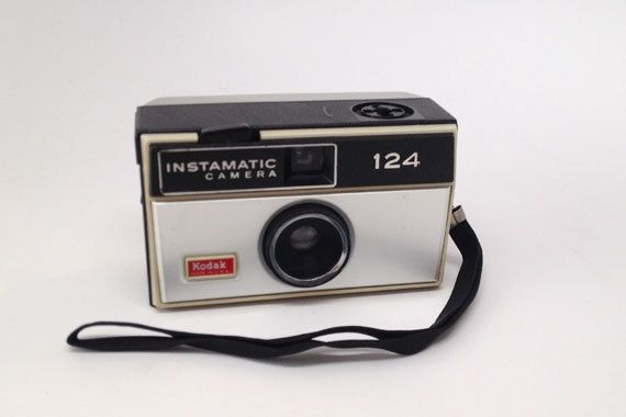 VINTAGE KODAK 124 Instamatic Camera by highplacesphotos on Etsy