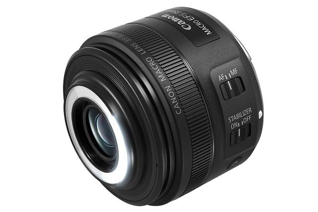 Canon anuncia nova lente macro com flash LED embutido