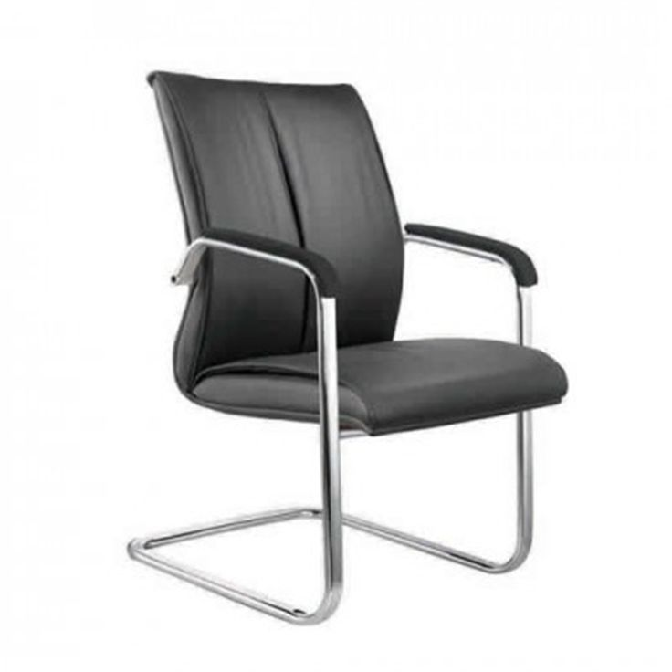 Turin Executive Visitors Chairs in Black