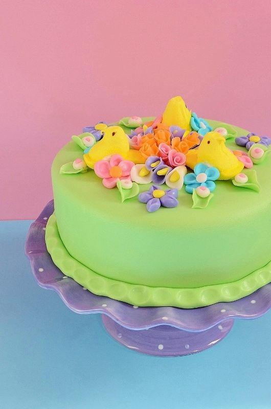 Easy Peeps Easter Cake