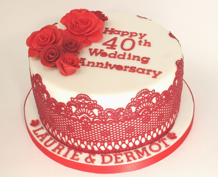Ideas For 40th Wedding Anniversary Gifts: Best 25+ 40th Anniversary Cakes Ideas On Pinterest