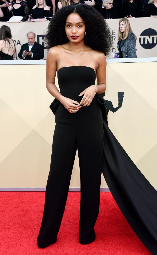 SAG Awards 2018 Red Carpet: Best Dressed and Fashion Highlights - Yara Shahidi in Ralph Lauren