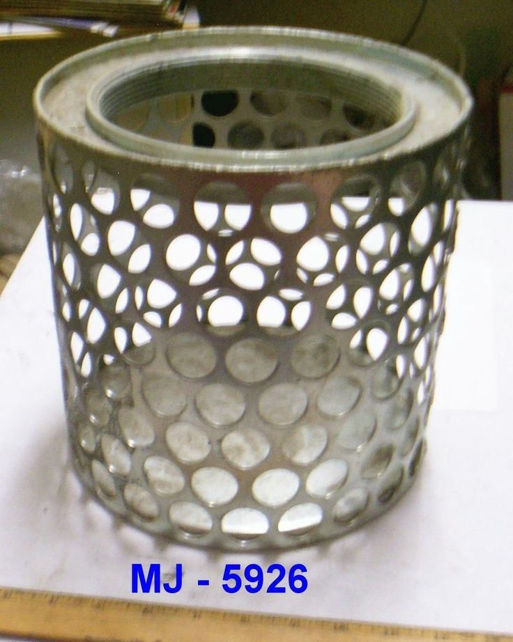 """Side Round Perforations Suction Strainer for 6"""" Water / Trash Pump (NOS) #Unknown"""