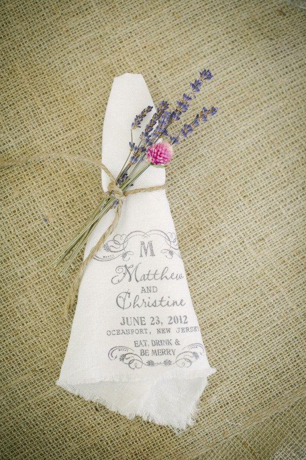 idée pour déco de table personnalisée mariage champêtre chic campagne lin (14)