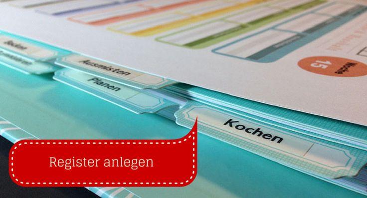 Mit einem Register bringst du eine klare Struktur in deinen Haushaltsordner. Jede Checkliste hat ihren festen Platz und ist schnell auffindbar.