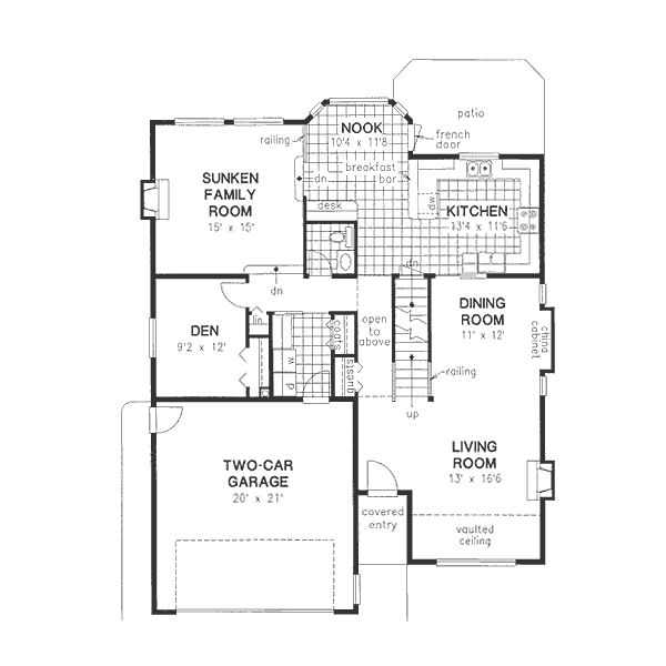 Traditional Style House Plan 6 Beds 3 5 Baths 2912 Sq Ft Plan 18 9343 House Plans Floor Plan Design How To Plan Traditional style house plan