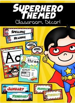 Superhero Classroom Decor Set! Only $7 for 100+ Pages of Decor!