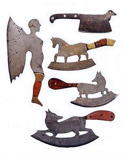 Fancy Figural Antique Cleavers.