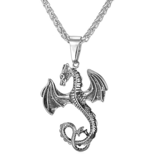 Stainless Steel Men Chain Gothic Dragon Pendant Necklace | Amazon.com (110 SEK) ❤ liked on Polyvore featuring men's fashion, men's jewelry, men's necklaces, mens chain necklace, mens chains, mens stainless steel necklace, mens stainless steel chains and mens watches jewelry