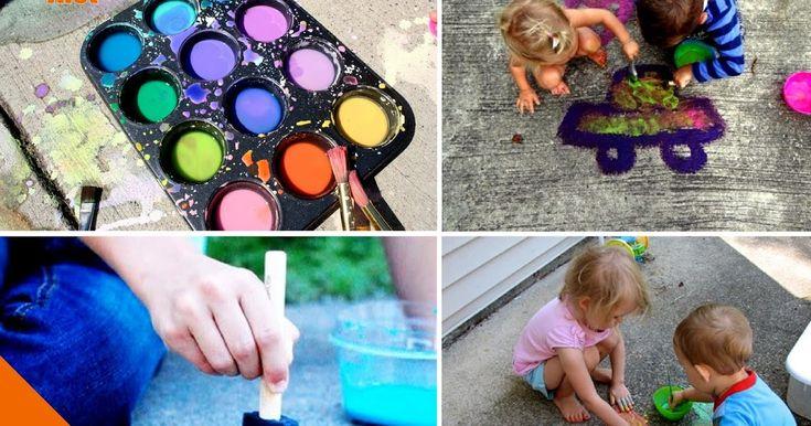 Сегодня мы расскажем вам, как из подручных материалов сделать классные краски для того, чтобы рисовать на асфальте у себя во дворе! С этой идеей у вас всегда будет в запасе ответ на вопрос вашего ребенка «Чем мы сегодня займемся?!»