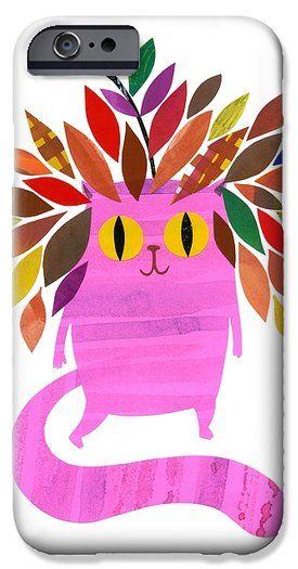Forest Cat iPhone 6 Case by Anne Vasko