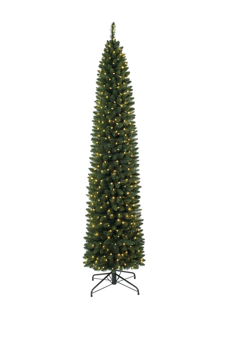 Express your joy this Christmas with our 9 Foot Ticonderoga Pencil Christmas Tree with Clear Lights. This pre lit Christmas tree leaves a regal impression by standing at 9 feet tall.