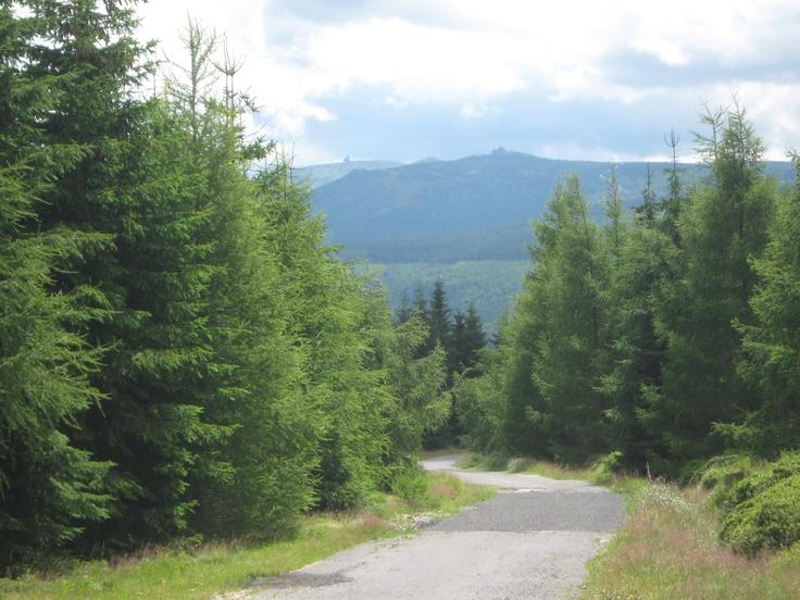 Izery mountains. View of the Karkonosze mountains Poland.