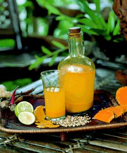 How to make Jamu - Indonesian turmeric drink for cancer, tumors, immune system, inflammatory conditions, etc.
