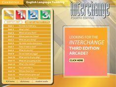 Interchange 4th Edition Arcade: Cambridge University Press - Intro Level Menu