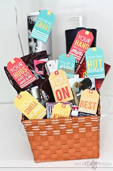 Husband Gift Basket: 10 Things I Love About You super cute romantic gift idea for any guy