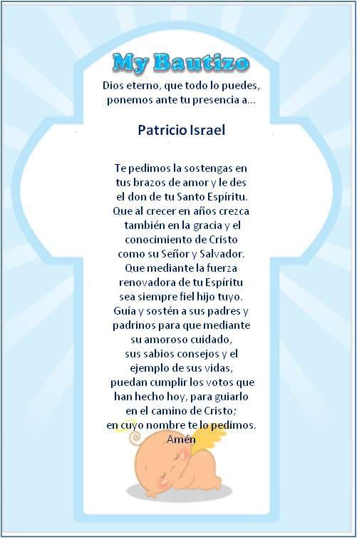 17 best images about oracion bautizo on pinterest dibujo for Poemas para bautizo
