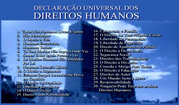Resumo da Declaração Universal dos Direitos Humanos