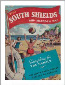 Visit South Shields Tea Towel