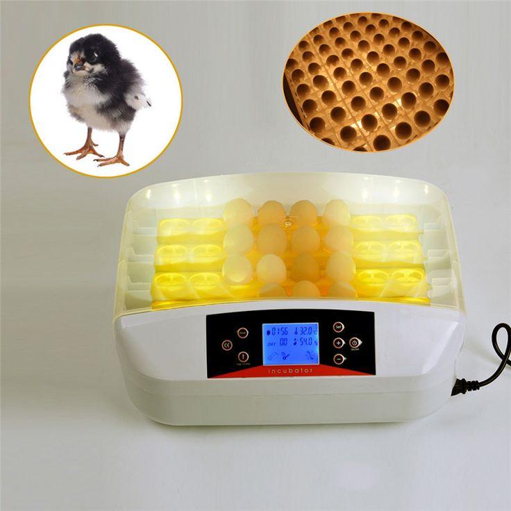 32 Pcs Mini Eggs Incubator Cre Automatic Incubator Equipment Advance Turn Tray Hatching Egg Incubators Poultry Hatchery Machine