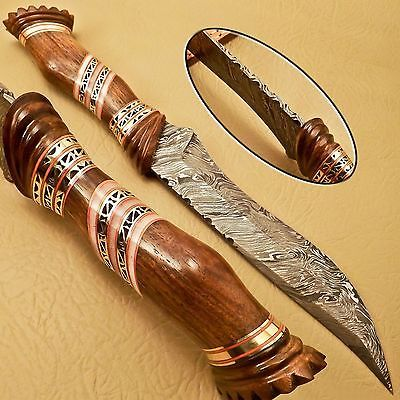 BEAUTIFUL CUSTOM HAND MADE DAMASCUS STEEL HUNTING KNIFE WORK OF ART in Collectibles, Knives, Swords & Blades, Fixed Blade Knives | eBay