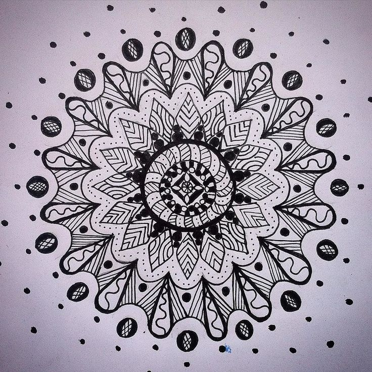 Monday mandala... Was playing with this one over the weekend and I almost went crosseyed... It also lulled me to sleep #mandala #markerpen #zenart #zendoodle #design #nairobi #pattern #art #drawing #illustration