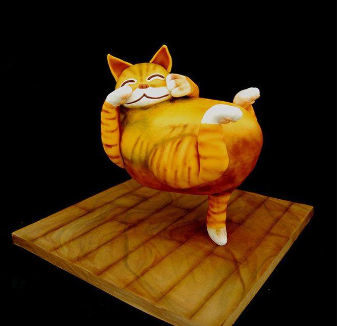 Torte incredibili: quando il #cakedesign diventa una forma d'arte #cake #cat #sweets #cooking