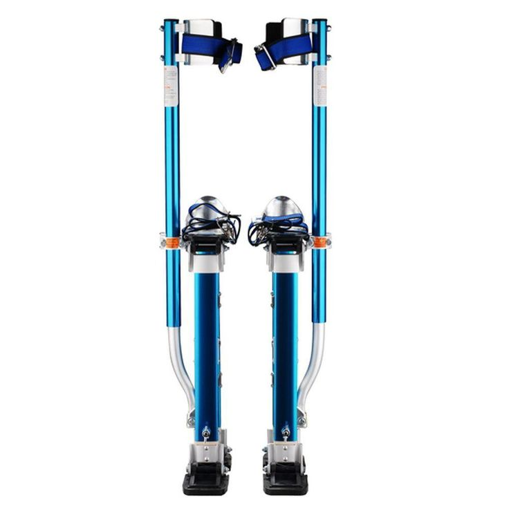 24 in. to 40 in. Adjustable Height Blue Drywall Stilts