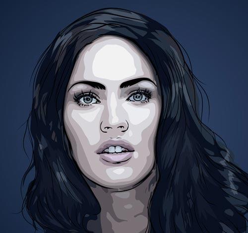 Megan Fox Personal Art Portrait In Scanner Darkly Style Pop IllustrationArt IllustrationsCelebrity