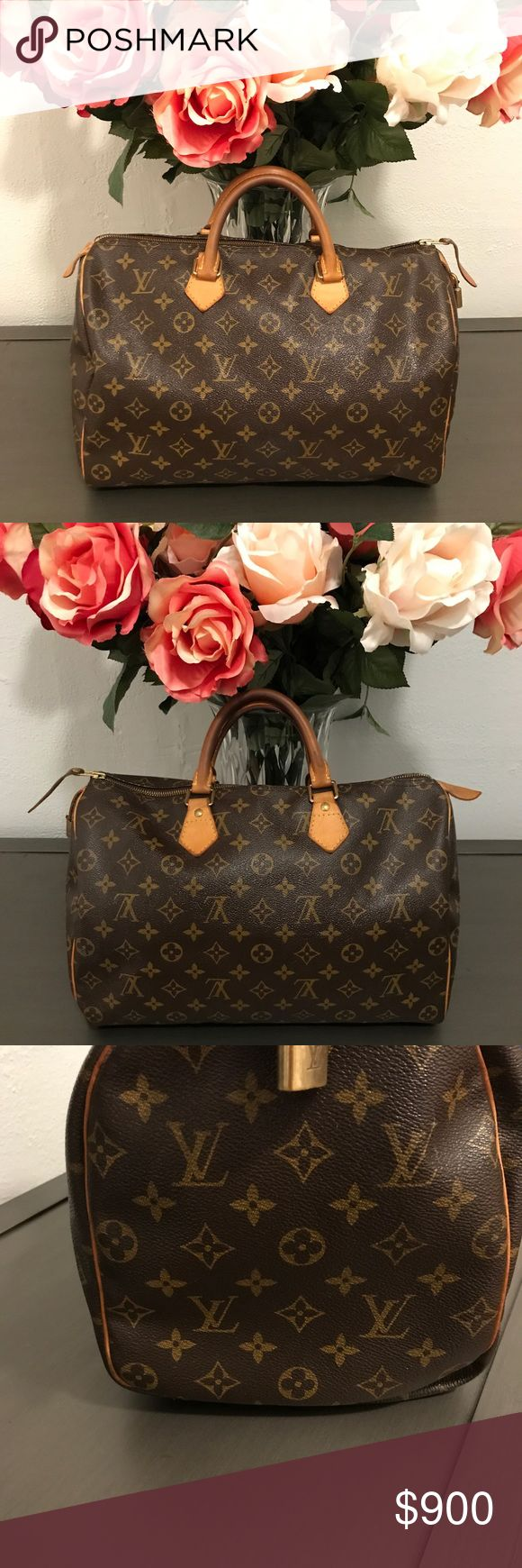 Louis Vuitton Speedy 35 Authentic LV. In great condition. I use CPR Leather conditioner to keep all my handbags youthful. Measurements are 13.8 x 9.1 x 7.1 inches. No dust bag or lock key. Can provide a generic dust bag if need be. Louis Vuitton Bags Satchels