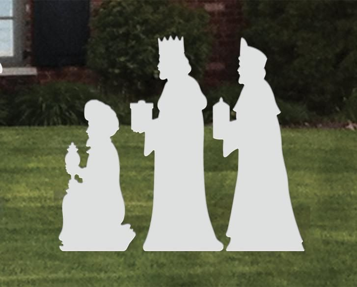 Large Three Kings Add On Tree Outdoor Nativity