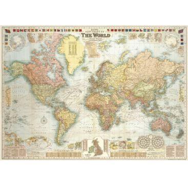 Giftwrap - World Map 5 - Bobangles #Cavallini #vintage #map #poster #giftwrap #world
