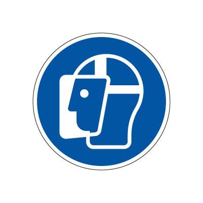 Ansigtsværn Påbudt - Køb påbudsskilte online hos JO Safety.