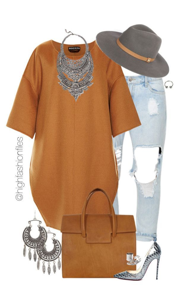 """Fall Hipster Look"" by highfashionfiles ❤ liked on Polyvore featuring Charlotte Russe, Rochas, Maison Margiela, Christian Louboutin and DYLANLEX"