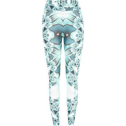 Green kaleidoscope print leggings £25.00